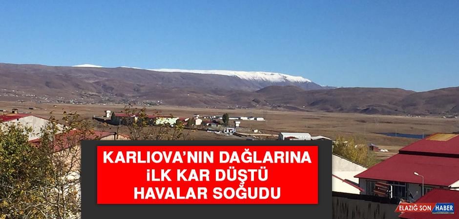 Karlıova'nın Dağlarına İlk Kar Düştü, Havalar Soğudu