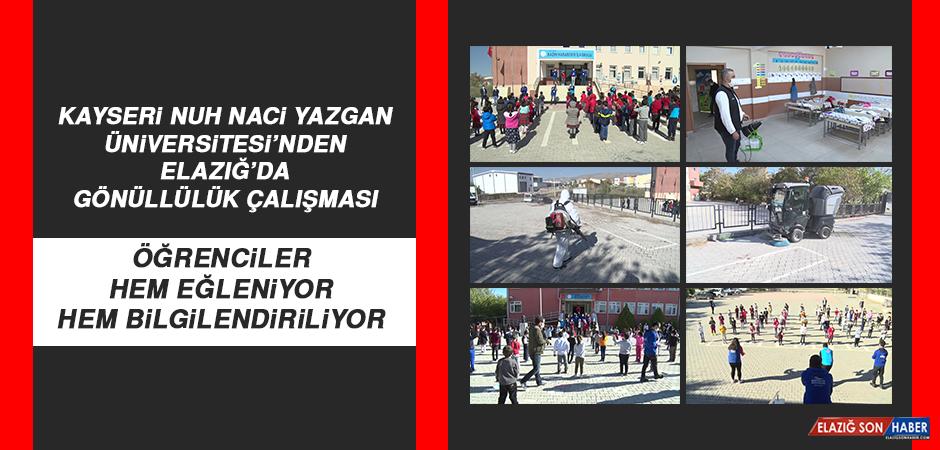 Kayseri Nuh Naci Yazgan Üniversitesi'nden Elazığ'da Gönüllülük Çalışması