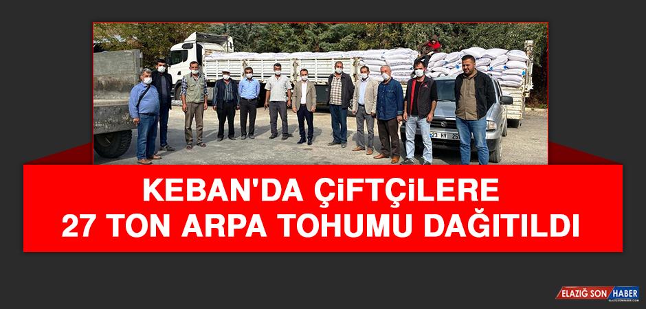Keban'da Çiftçilere 27 Ton Arpa Tohumu Dağıtıldı
