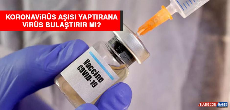 Koronavirüs aşısı yaptıran virüs bulaştırır mı?