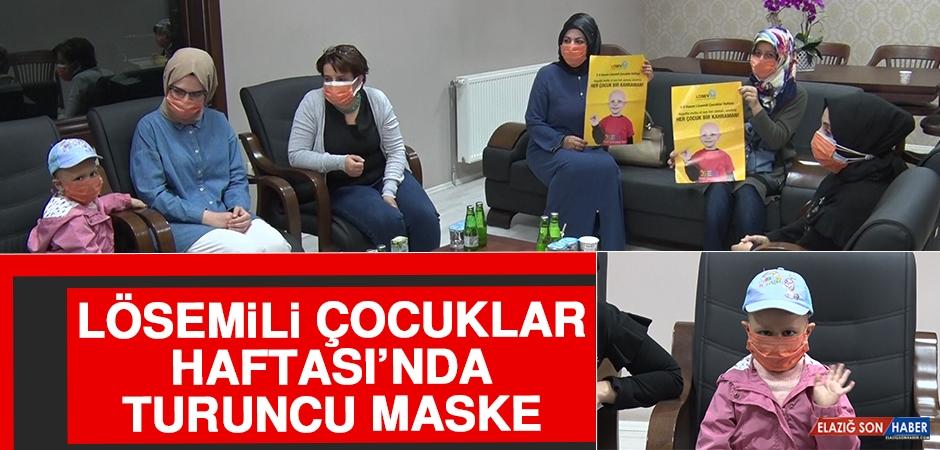 Lösemili Çocuklar Haftası'nda Turuncu Maske