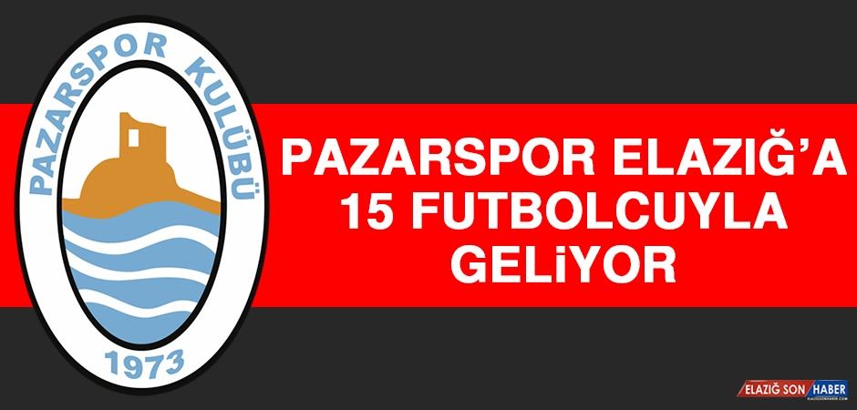 Pazarspor, Elazığ'a 15 Futbolcuyla Geliyor
