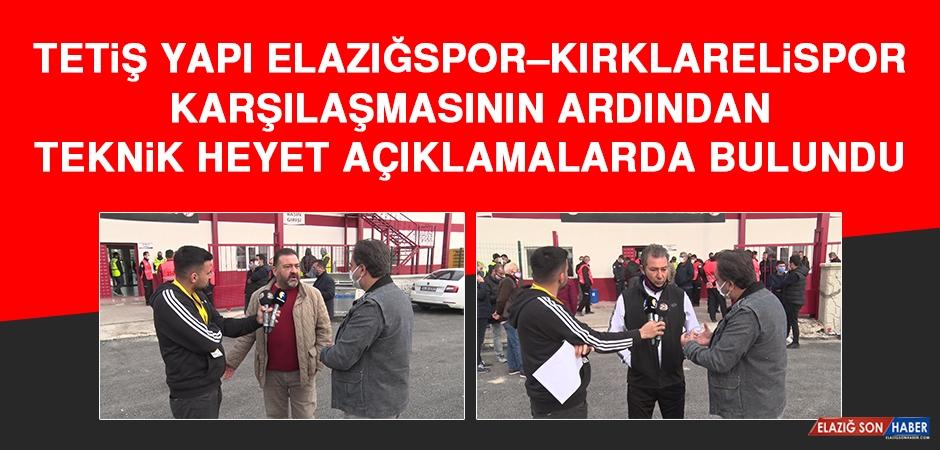 Tetiş Yapı Elazığspor – Kırklarelispor Karşılaşmasının Ardından Açıklama Yapıldı