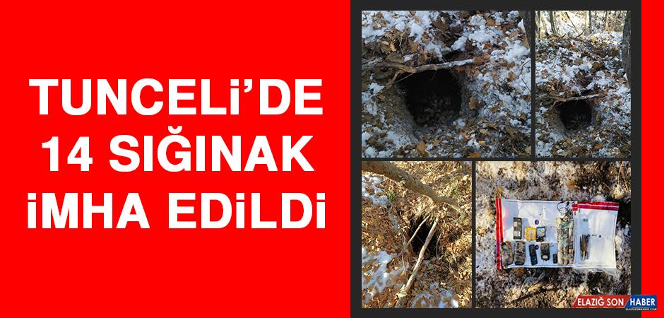 Tunceli'de 14 Sığınak İmha Edildi