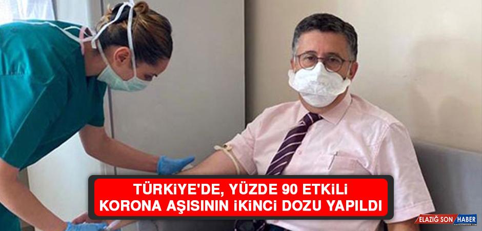 Türkiye'de, Yüzde 90 Etkili Korona Aşısının İkinci Dozu Yapıldı