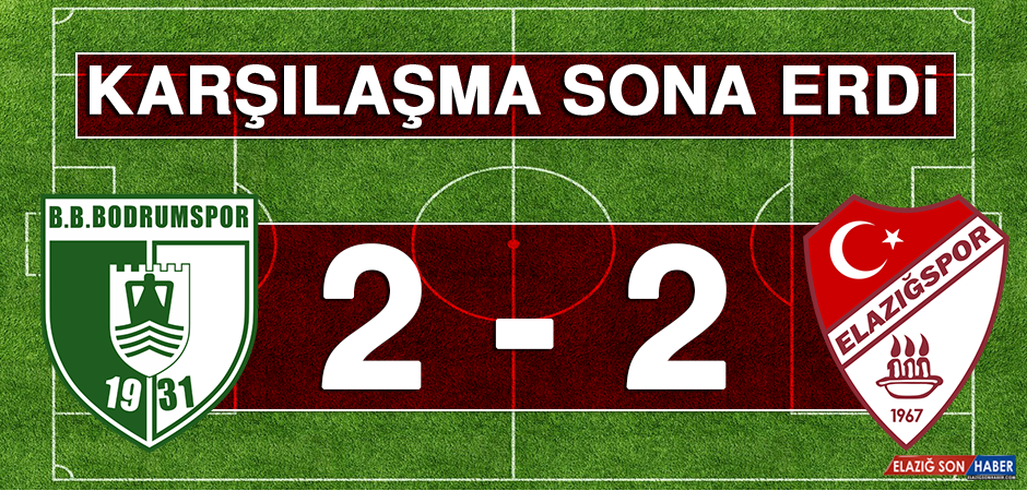Bodrumspor 2 – 2 Tetiş Yapı Elazığspor