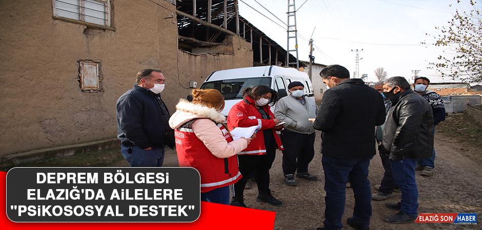 """Deprem Bölgesi Elazığ'da Ailelere """"Psikososyal Destek"""""""