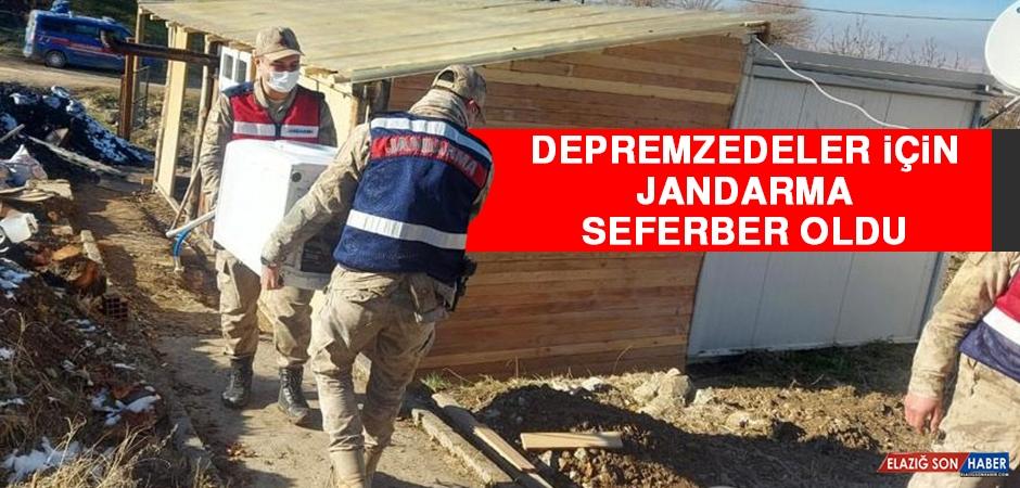 Depremzedeler İçin Jandarma Seferber Oldu