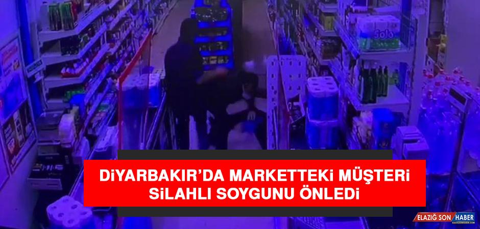 Diyarbakır'da Marketteki Müşteri, Silahlı Soygunu Önledi