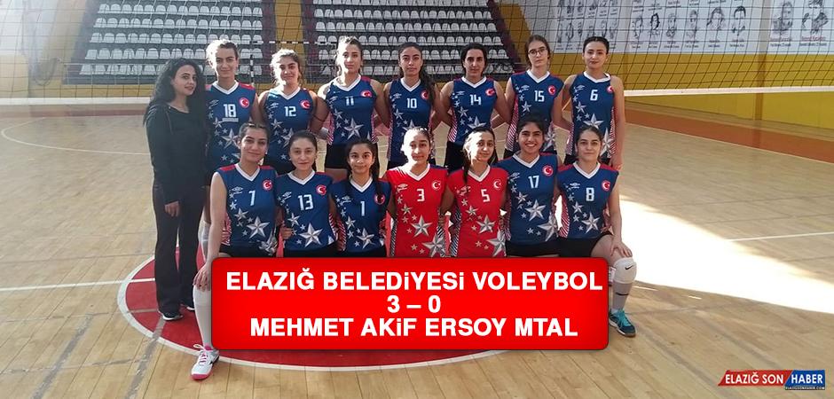 Elazığ Belediyesi Voleybol 3 – 0 Mehmet Akif Ersoy MTAL