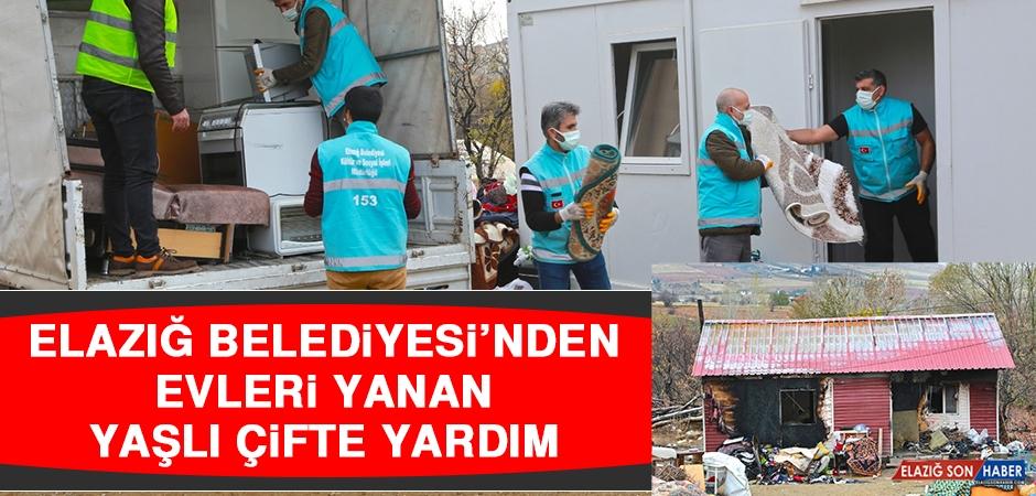 Elazığ Belediyesi'nden Evleri Yanan Yaşlı Çifte Yardım