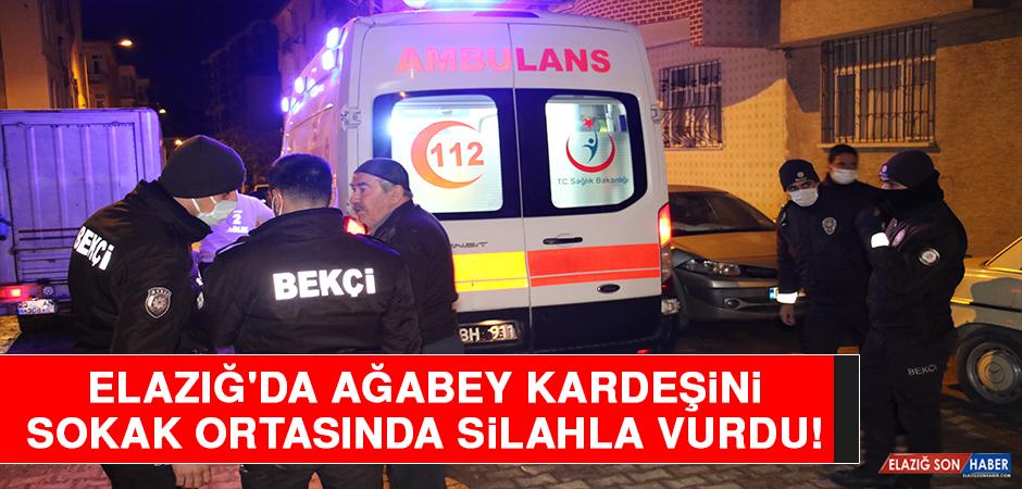 Elazığ'da Ağabey Kardeşini Sokak Ortasında Silahla Vurdu