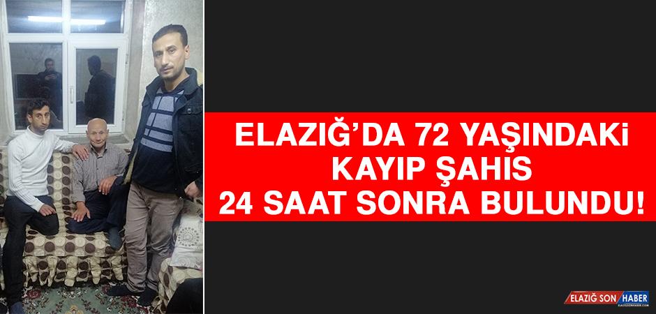 Elazığ'da 72 Yaşındaki Kayıp Şahıs 24 Saat Sonra Bulundu!