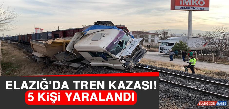 Elazığ'da Tren Kazası: 5 yaralı