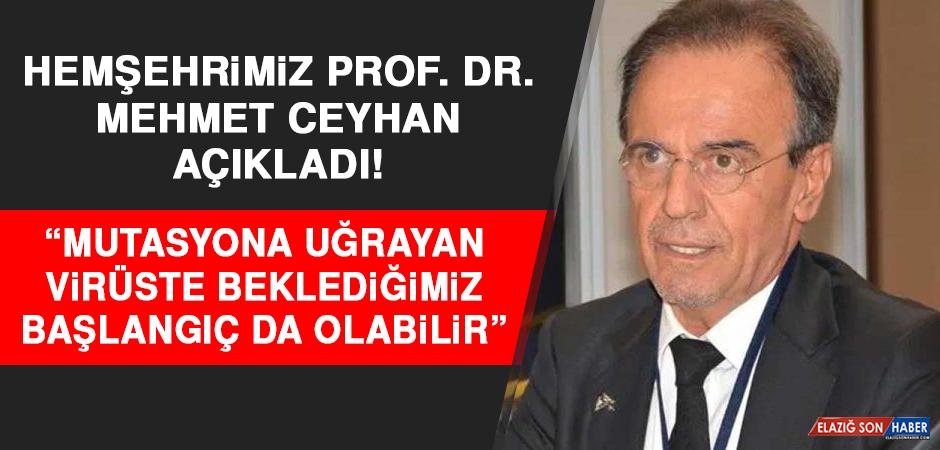 """Hemşehrimiz Prof. Dr. Mehmet Ceyhan Açıkladı! """"Mutasyona Uğrayan Virüste Beklediğimiz Başlangıç Da Olabilir"""""""