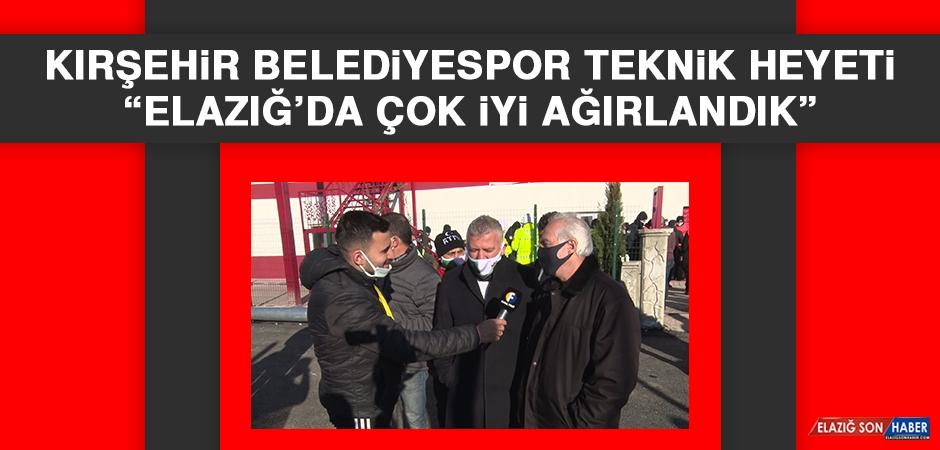 Kırşehir Belediyespor Teknik Heyeti: Elazığ'da Çok İyi Ağırlandık