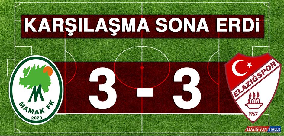 Mamak Futbol Kulübü 3 - 3 Tetiş Yapı Elazığspor Karşılaşması Sona Erdi