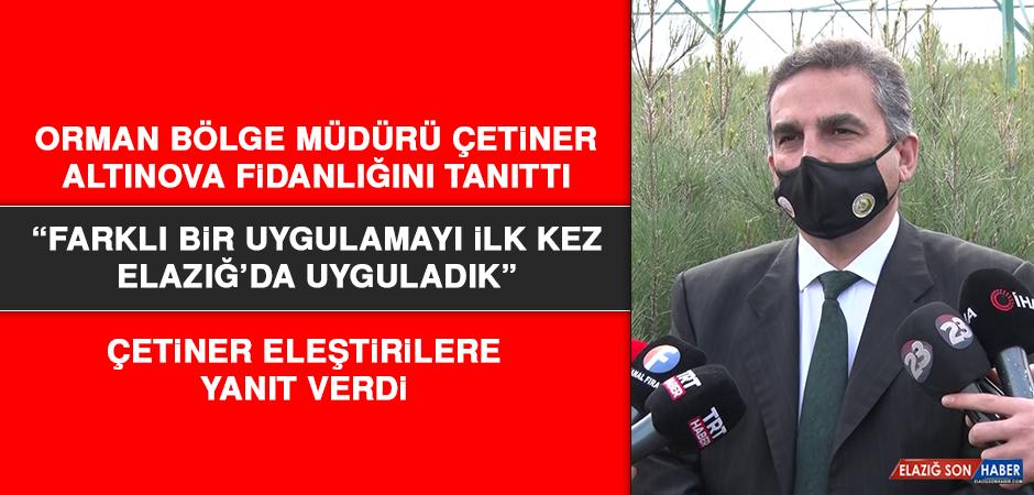 Orman Bölge Müdürü Çetiner, Altınova Fidanlığını Tanıttı