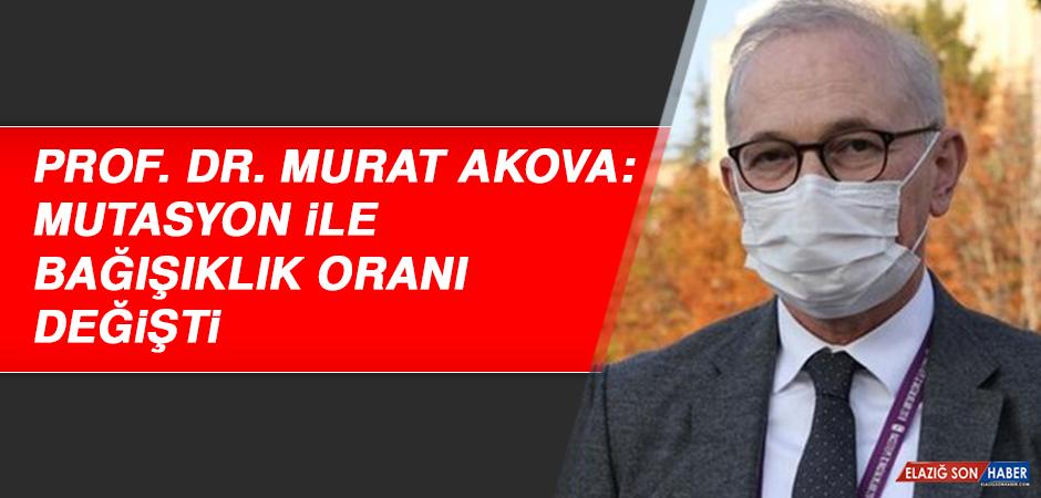 Prof. Dr. Murat Akova: Mutasyon ile bağışıklık oranı değişti