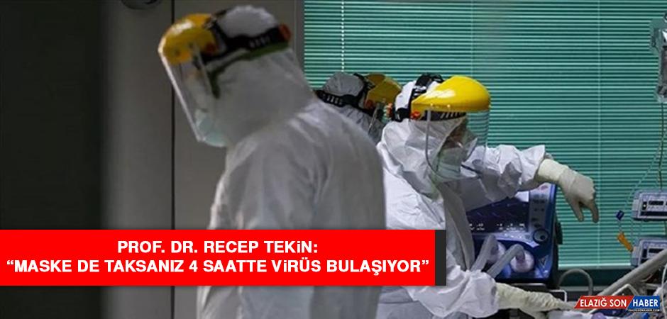 """Prof. Dr. Tekin: """"Maske de taksanız 4 saatte virüs bulaşıyor"""""""
