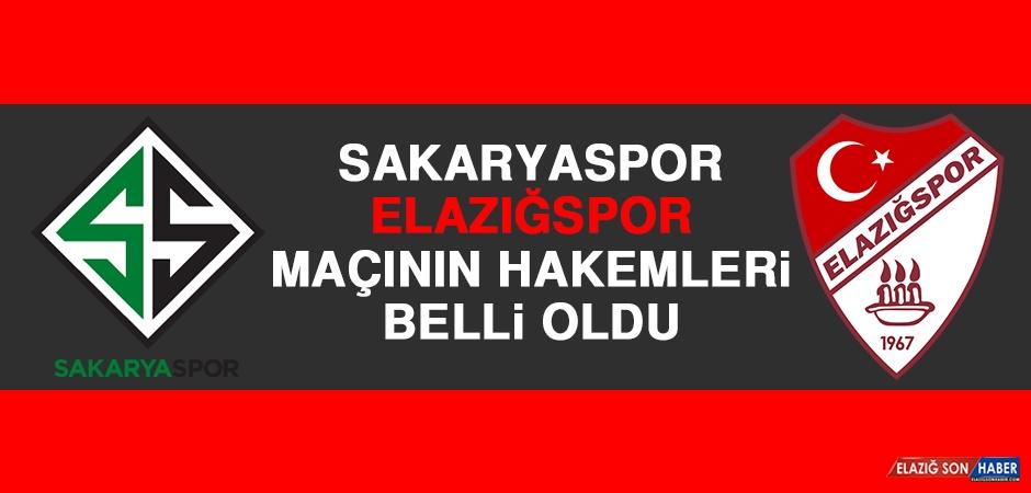 Sakaryaspor-Elazığspor Maçının Hakemleri Belli Oldu