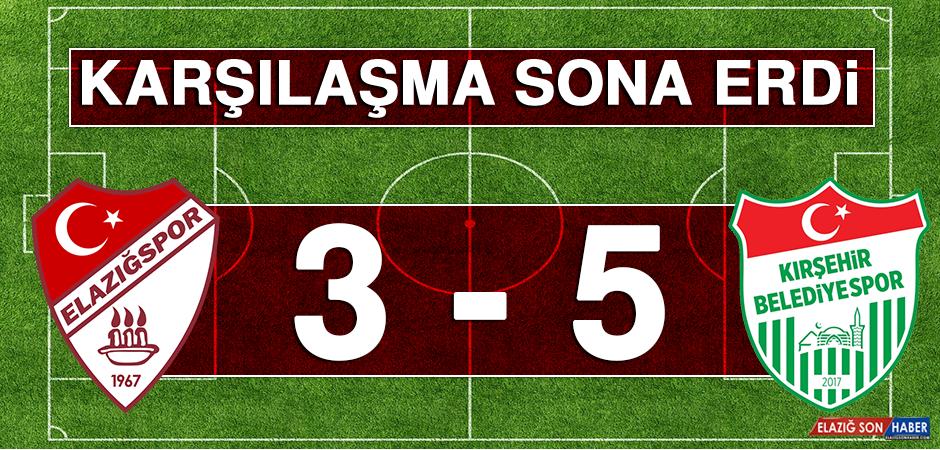 Tetiş Yapı Elazığspor 3 – 5 Kırşehir Belediyespor Karşılaşması Sona Erdi