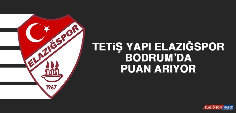 Tetiş Yapı Elazığspor, Bodrum'da Puan Arıyor