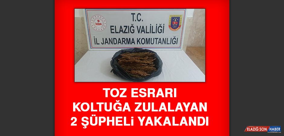 Toz Esrarı Koltuğa Zulalayan 2 Şüpheli Yakalandı