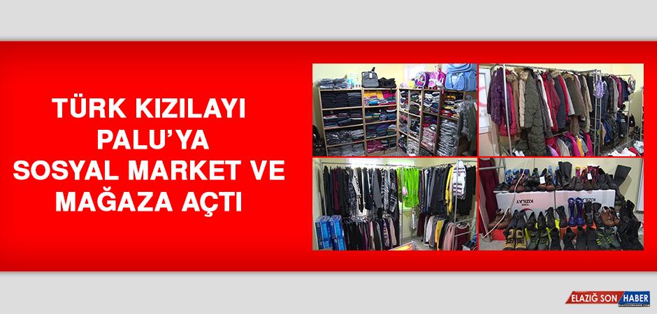 Türk Kızılayı Palu'ya Sosyal Market ve Mağaza Açtı