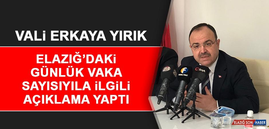 Vali Erkaya Yırık, Elazığ'daki Günlük Vaka Sayısıyla İlgili Açıklama Yaptı