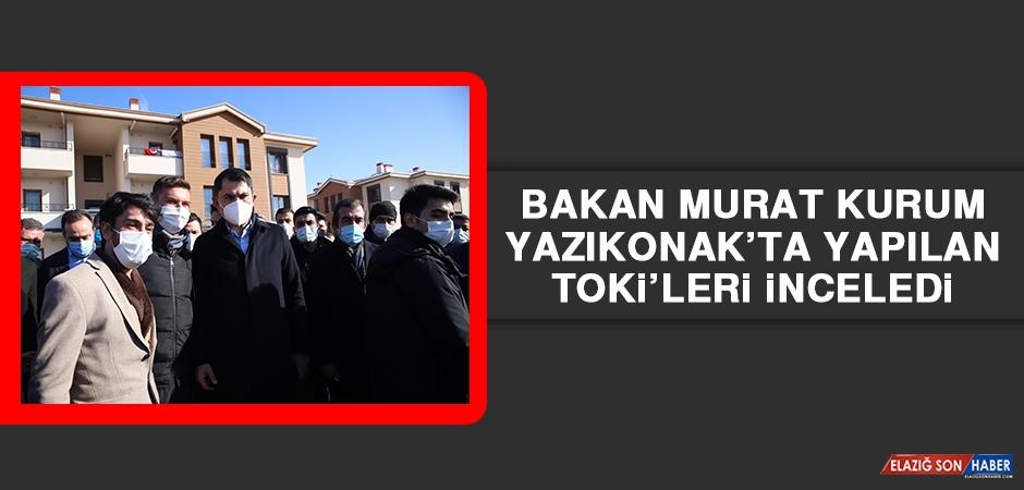 Bakan Murat Kurum Yazıkonak'ta Yapılan TOKİ'leri İnceledi