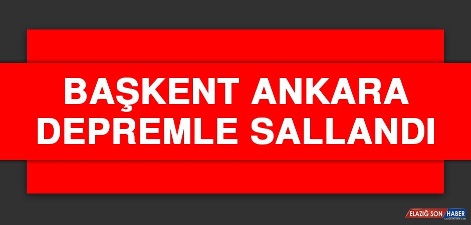 Başkent Ankara Depremle Sallandı