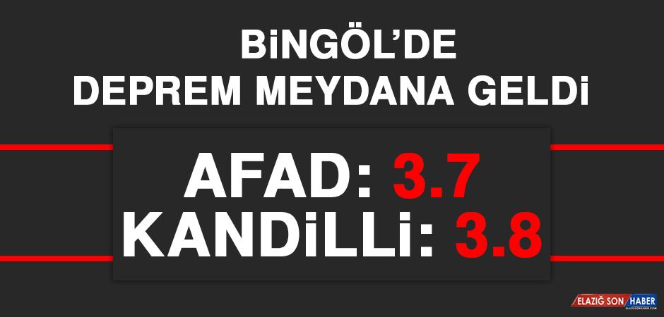 Bingöl'de 3.7 Büyüklüğünde DepremMeydana Geldi