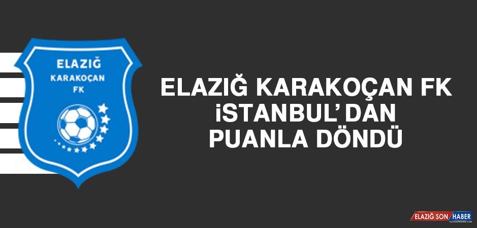 Elazığ Karakoçan FK, İstanbul'dan Puanla Döndü