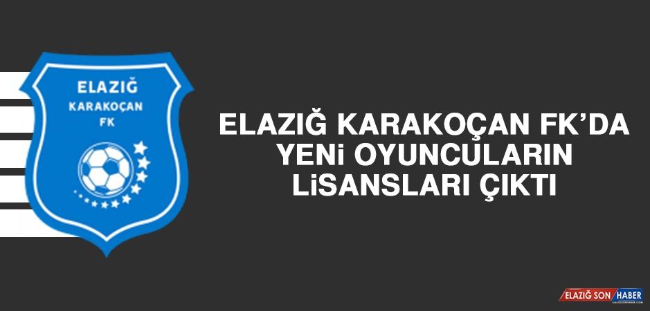 Elazığ Karakoçan FK'da Yeni Oyuncuların Lisansları Çıktı