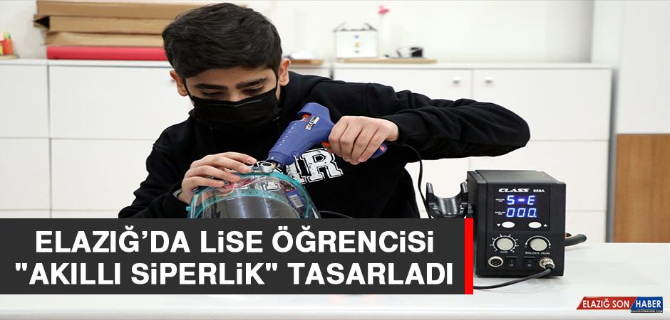 """Elazığ'da Lise Öğrencisi """"Akıllı Siperlik"""" Tasarladı"""