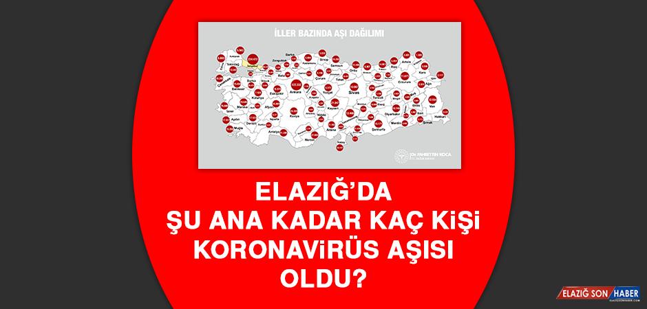 Elazığ'da şu ana kadar kaç kişi koronavirüs aşısı oldu?