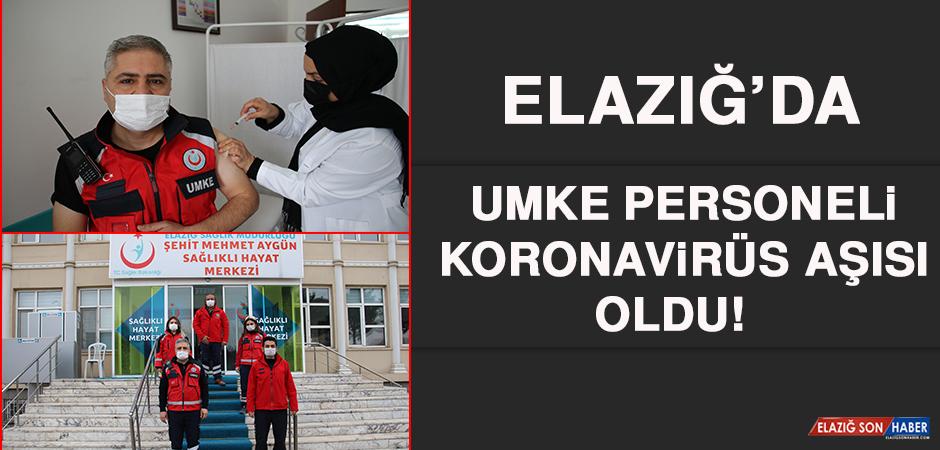 Elazığ'da UMKE Personeli Koronavirüs Aşısı Oldu