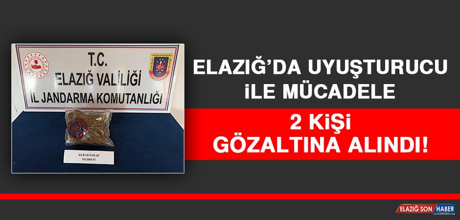 Elazığ'da Uyuşturucu İle Mücadele: 2 Gözaltı