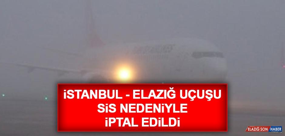 İstanbul - Elazığ Uçağı İptal Edildi