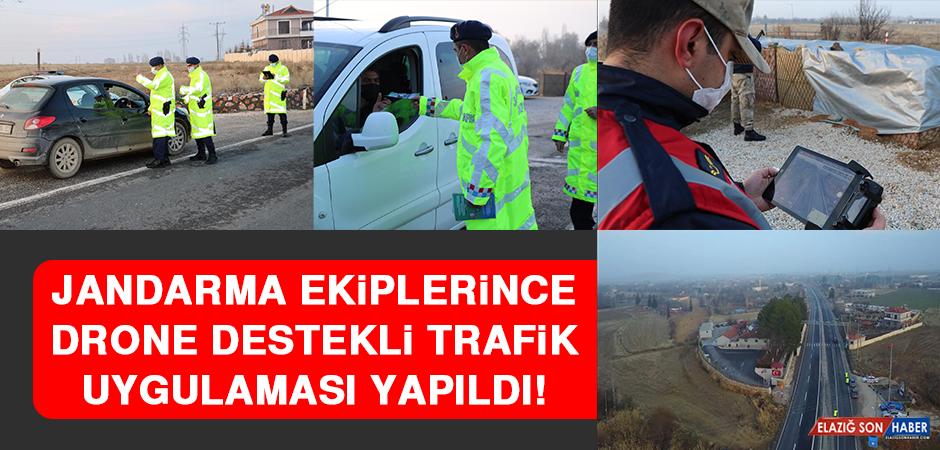 Jandarma Ekiplerince Drone Destekli Trafik Uygulaması Yapıldı!