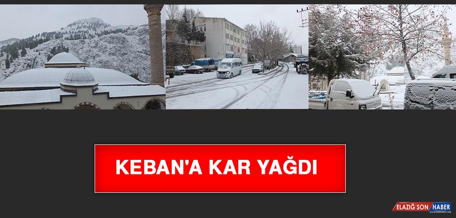 Keban'a Kar Yağdı