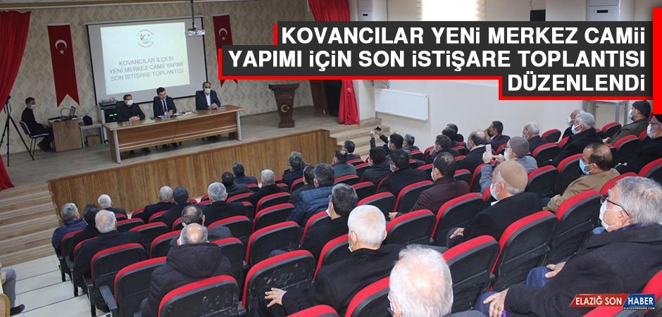 Kovancılar Yeni Merkez Camii Yapımı İçin Son İstişare Toplantısı Düzenlendi