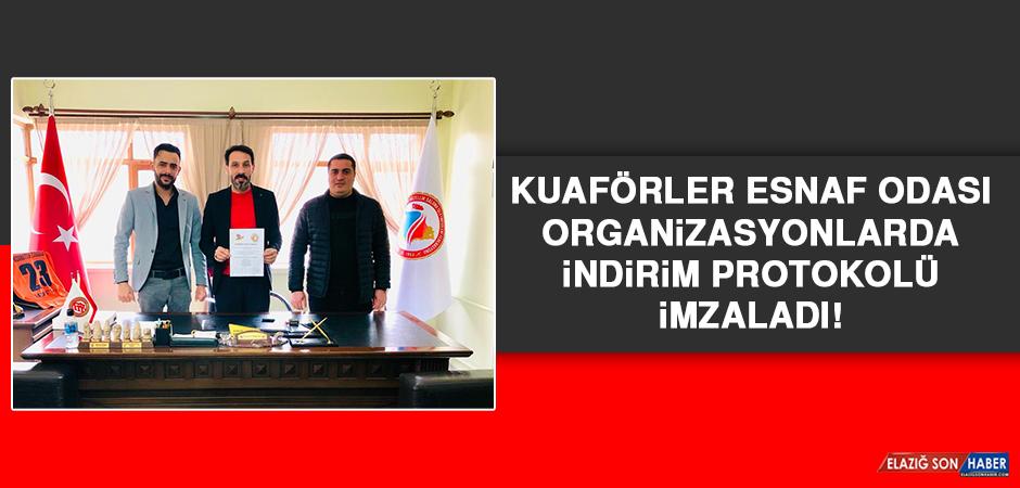 Kuaförler Esnaf Odası Organizasyonlarda İndirim Protokolü İmzaladı