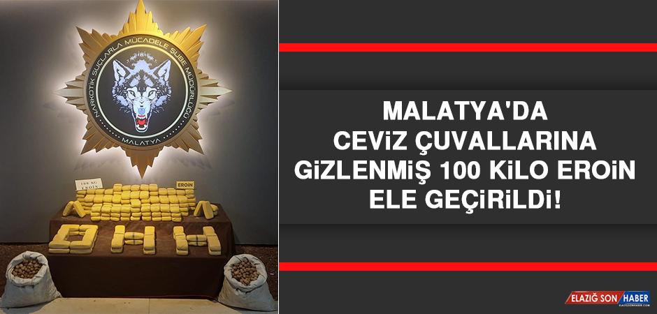 Malatya'da Ceviz Çuvallarına Gizlenmiş 100 Kilo Eroin Ele Geçirildi