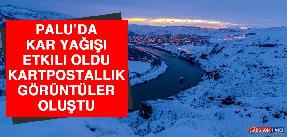 Palu'da Yağan Kar Kartpostallık Görüntüler Oluşturdu