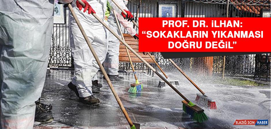 """Prof. Dr. İlhan: """"Sokakların yıkanması doğru değil"""""""