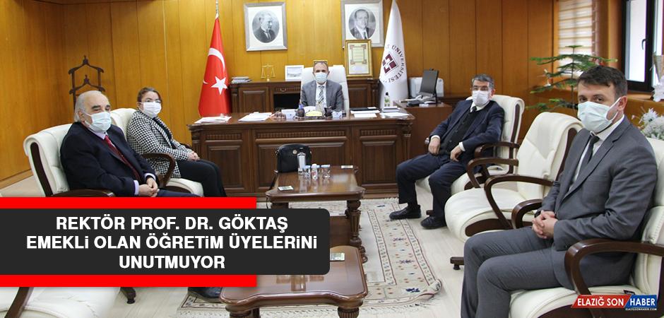 Rektör Prof. Dr. Göktaş, Emekli Olan Öğretim Üyelerini Unutmuyor