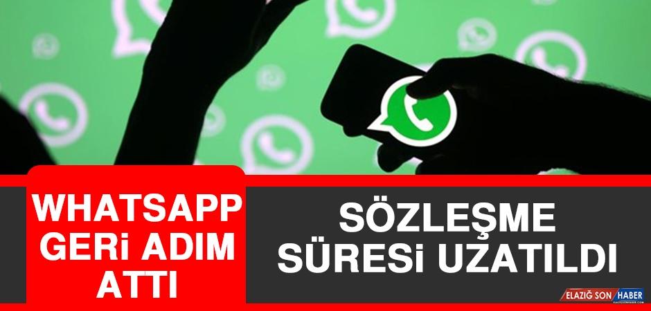 Whatsapp Geri Adım Attı! Sözleşme Süresi Uzatıldı