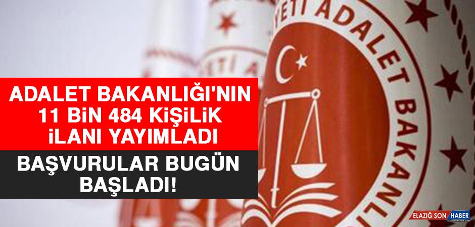 Adalet Bakanlığı'nın 11 Bin 484 Kişilik İlanı Yayımladı